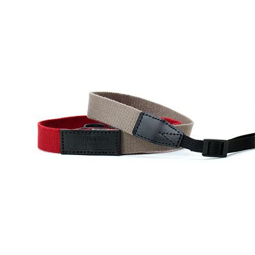 RED LABEL BY ARTISAN&ARTIST* AC310 環型扣/扁帶型扣相機帶 (紅色拼淺啡色) (預計送貨需時3個星期)