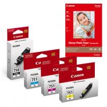 [網上套裝] PGI-750XL + CLI-751XL 墨水連 GP-508 相紙優惠套裝