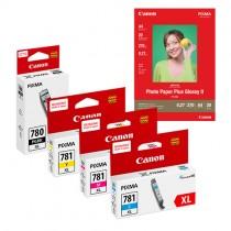 [網上套裝] PGI-780XL + CLI-781XL 相紙墨水優惠套裝