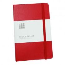 Moleskine 經典硬皮橫間內頁筆記本 (紅色)