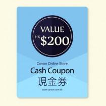 $200 Canon Online Store現金券