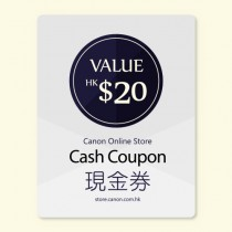 $20 Canon Online Store現金券