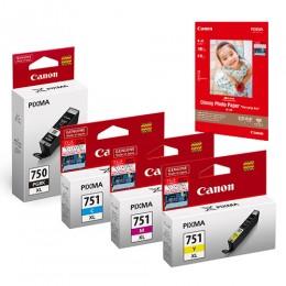 [網上套裝] PGI-750XL + CLI-751XL 相紙墨水優惠套裝