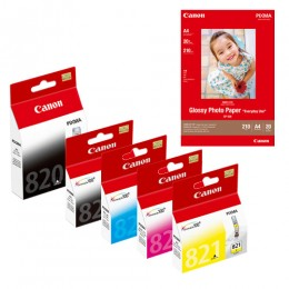 [網上套裝] PGI-820 + CLI-821 墨水連 GP-508 相紙優惠套裝