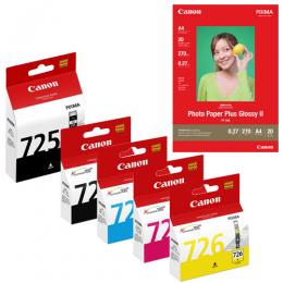 [網上套裝] PGI-725 + CLI-726 相紙墨水優惠套裝