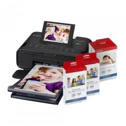 【聖誕限量組合】SELPHY CP1300 (黑色) 相片打印機相紙色帶優惠組合