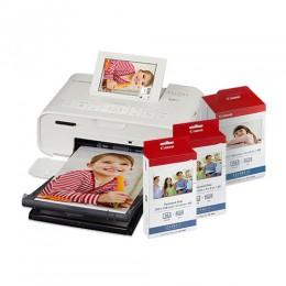 【聖誕限量組合】SELPHY CP1300 (白色) 相片打印機相紙色帶優惠組合