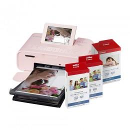 【聖誕限量組合】SELPHY CP1300 (粉紅色) 相片打印機相紙色帶優惠組合