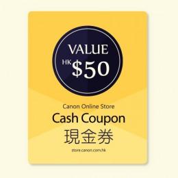 $50 Canon Online Store現金券