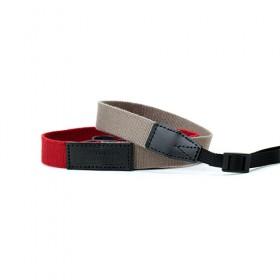 RED LABEL BY ARTISAN&ARTIST* AC310 環型扣/扁帶型扣相機帶 (紅色拼淺啡色)