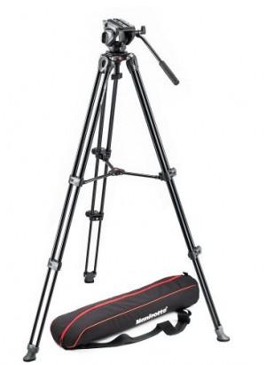 Manfrotto MVH500A+MVT502AM中置雙管攝錄腳架套裝 (預計送貨需時1-2個月)