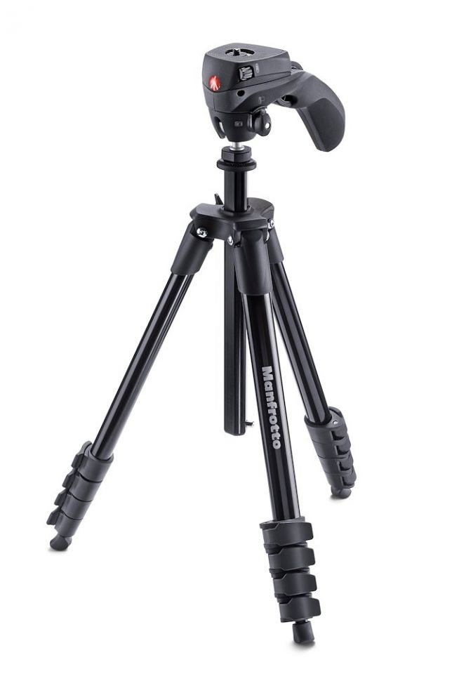 Manfrotto Compact Action Tripod (Black) (Delivery will take 2-3 months)