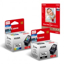 PG-740XL + CL-741XL Ink and Media Pack