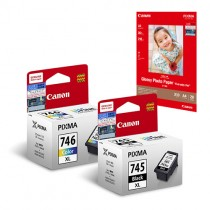 PG-745XL + CL-746XL Ink and Media Pack