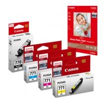 PGI-770XL + CLI-771 Ink and Media Pack