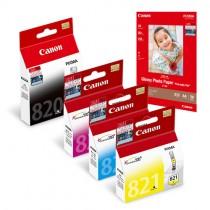 PGI-820BK + CLI-821 Ink and Media Pack