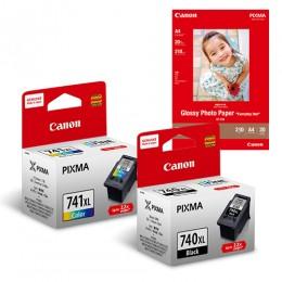 [Online Set] PG-740XL + CL-741XL Ink with GP-508 Media Pack
