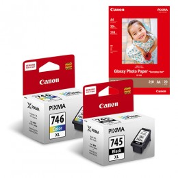 [Online Set] PG-745XL + CL-746XL Ink with GP-508 Media Pack