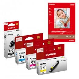 [Online Set] PGI-770XL + CLI-771XL Ink with GP-508 Media Pack