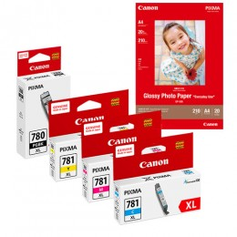 [Online Set] PGI-780XL + CLI-781XL Ink with GP-508 Media Pack