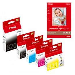 [Online Set] PGI-820 + CLI-821 Ink with GP-508 Media Pack