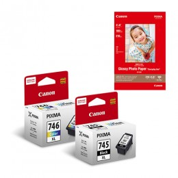 [Online Set] PG-745XL + CL-746XL Ink and Media Pack