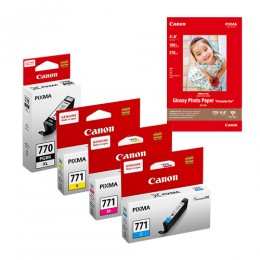 [Online Set] PGI-770XL + CLI-771XL Ink & Media Pack