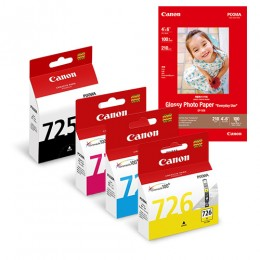 [Online Set] PGI-725 + CLI-726 Ink and Media Pack