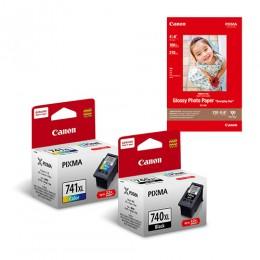 [Online Set] PG-740XL + CL-741XL Ink and Media Pack