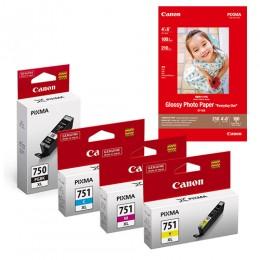 [Online Set] PGI-750XL + CLI-751XL Ink and Media Pack