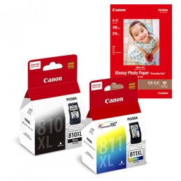 [Online Set] PG-810XL + CL-811XL Ink and Media Pack