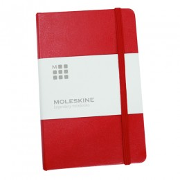 Moleskine Ruled Hard Cover Classic Notebook, Red