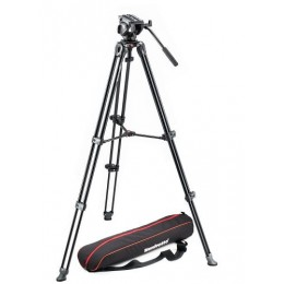 Manfrotto Tripod with fluid video head Lightweight with Side Lock (Delivery will take 1-2 months)